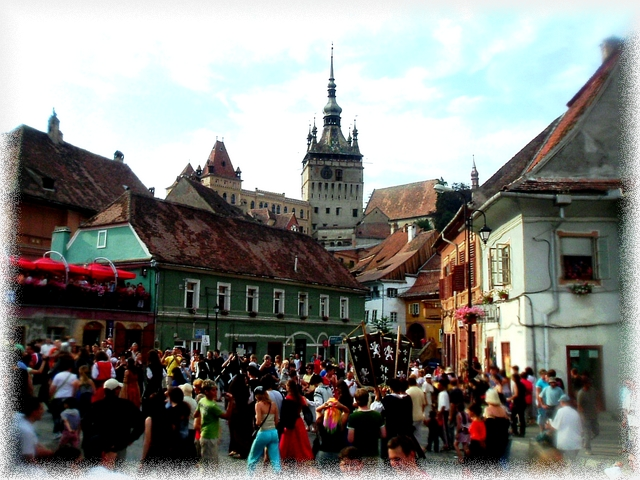 Sighisoara crowd