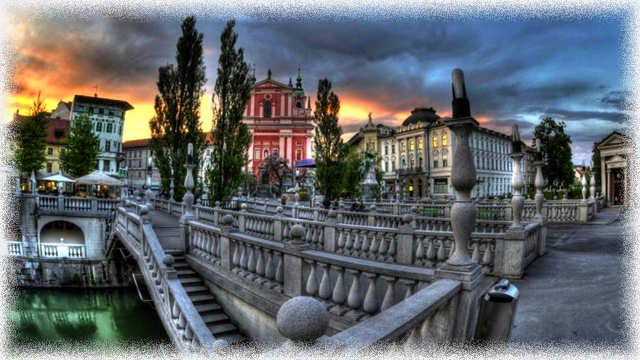 Early Bridges City Ljubljana Morning High Resolution